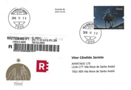 PORTUGAL - Christmas 2019 - CTT Special Envelope And Stamp, With Happy Holidays Card Enclosed ~ Real Circulated ~ - Christmas