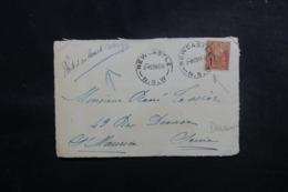NOUVELLE CALÉDONIE - Oblitération De Newcastle Sur Affranchissement Sur Devant D'enveloppe En 1926 - L 47962 - Nieuw-Caledonië