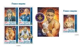 Central Africa 2019 Freemasons Lindbergh Aldrin O'Neal Basketball MS+S/S CA190807 - Celebridades