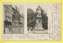 * Antwerpen - Anvers - Antwerp * (Wereldpostvereeniging, Nr 21) Puits Et Statue Quinten Matseys, Distillerie Depot, Rare - Antwerpen