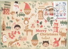 D38636 CARTE MAXIMUM CARD 2018 NETHERLANDS - CHRISTMAS WINTER SUBJECTS - POSTMARK 24 DECEMBER 2018! CP ORIGINAL - Christmas