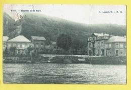 * Yvoir (Namur - Namen - La Wallonie) * (L. Lagaert, B, Nr 12) Quartier De La Gare, Chapeaux, Canal, Quai, Rare, Old - Yvoir