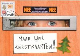D38637 CARTE MAXIMUM CARD 2018 NETHERLANDS - CHRISTMAS TREE CARDS MAIL  - POSTMARK 24 DECEMBER 2018! CP ORIGINAL - Christmas