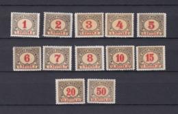 Bosnien-Herzegowina - Österreichische Besetzung - Portomarken - 1901 - Michel Nr. 1/12 - 45 Euro - Bosnien-Herzegowina