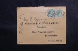 INDE - Enveloppe De Hydheabad Pour Madagascar En 1911, Affranchissement Recto Et Verso Plaisant - L 47969 - Inde (...-1947)