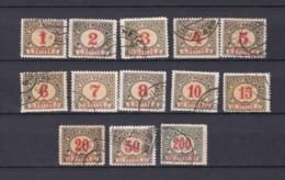 Bosnien-Herzegowina - Österreichische Besetzung - Portomarken - 1901 - Michel Nr. 1/13 A - Bosnien-Herzegowina