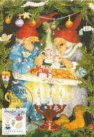 D38640 CARTE MAXIMUM CARD 2018 NETHERLANDS - CHRISTMAS DINNER CANDLE - POSTMARK 24 DECEMBER 2018! CP ORIGINAL - Christmas