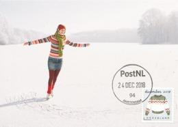 D38641 CARTE MAXIMUM CARD 2018 NETHERLANDS - CHRISTMAS WINTER SWEATER - POSTMARK 24 DECEMBER 2018! CP ORIGINAL - Christmas