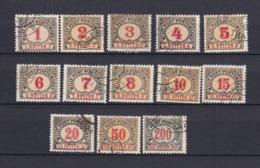 Bosnien-Herzegowina - Österreichische Besetzung - Portomarken - 1901 - Michel Nr. 1/13 B - 20 Euro - Bosnia And Herzegovina