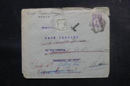 FRANCE / PORTUGAL - Taxe De Belley Sur Enveloppe Commerciale De Porto En 1923 - Affranchissement Perforé - L 47970 - Cartas Con Impuestos