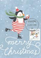 D38642 CARTE MAXIMUM CARD 2018 NETHERLANDS - CHRISTMAS WINTER SKATING - POSTMARK 24 DECEMBER 2018! CP ORIGINAL - Christmas