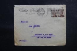 ITALIE - Enveloppe Commerciale De Milano Pour La France En 1923, Affranchissement Perforés - L 47972 - 1900-44 Victor Emmanuel III