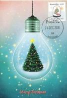 D38644 CARTE MAXIMUM CARD 2018 NETHERLANDS - CHRISTMAS TREE IN GLASS BELL LIGHT - POSTMARK 24 DECEMBER 2018! CP ORIGINAL - Christmas