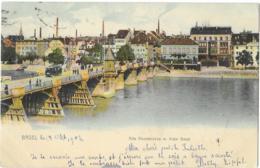 BASEL  --  Alte Rheinbrücke M. Klein Basel ( TRAM ) - BS Bâle-Ville