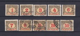 Bosnien-Herzegowina - Österreichische Besetzung - Portomarken - 1901 - Michel Nr. 1/4 C + 6/8 C + 10/12 C - Bosnien-Herzegowina