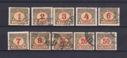Bosnien-Herzegowina - Österreichische Besetzung - Portomarken - 1901 - Michel Nr. 1/4 C + 6/8 C + 10/12 C - Bosnia And Herzegovina