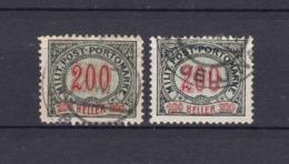 Bosnien-Herzegowina - Österreichische Besetzung - Portomarken - 1901 - Michel Nr. 13 A/B - Bosnien-Herzegowina