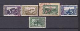 Bosnien-Herzegowina - Österreichische Besetzung - 1906 - Michel Nr. 30/32 + 36/37 - Stempel Rot - 24 Euro - Bosnien-Herzegowina