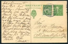 1924 Sweden Stationery Stockholm - Frankfurt Germany. - Covers & Documents