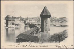 Kapelbrücke Und Wasserthurm, Luzern, 1902 - Wehrli Trenkler AK - LU Lucerne