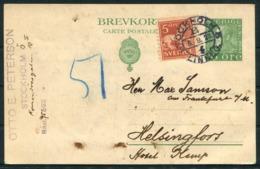 1923 Sweden Stationery Postcard Stockholm - Helsingfors - Covers & Documents