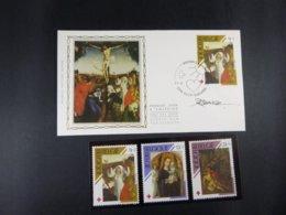 """BELG.1989 2312 FDC Soie/zijde (St Nikla) & Signature Désiré Roegiest & Serie 2312/14**  : """"Rode Kruis/croix Rouge """" - FDC"""