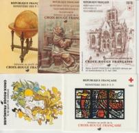 France Carnets Croix Rouge 1979 1980 1981 1982 Et 1983 ** MNH - Red Cross