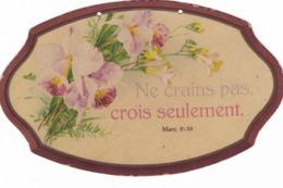 CURIEUX SOUVENIR DE   COMMUNION   1944 ,,,,  NE CRAINS PAS ,  CROIS  SEULEMENT - Images Religieuses