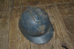 Très Beau Casque Adrian Guerre 14-18 Poilu Verdun Tranchée Fabrication Privée - Hoeden