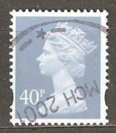 Great Britain: 1 Used Stamp From A Set, 2000, Mi#1863(2) - Machins