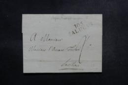 ITALIE / FRANCE - Marque Postale 105 Saluces Sur Lettre ( Occupation Française ) - L 47980 - Italie