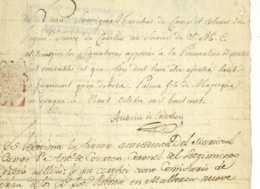 Regiment Suisse De COURTEN Colonel Antoine De COURTEN (Sion 1725- Sierre 1803) Palma De Majorque Mallorca - Documents Historiques