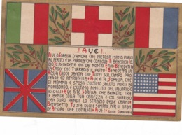 CROIX  ROUGE  ITALIENNE ,,,  ! AVE !  ,,,, Tres Jolie Carte ,,,,BE,,,,  Rare - Croce Rossa