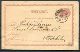 1882 Sweden Brefkort Stationery Postcard PKXP Railway - Sweden