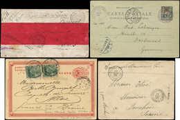 Let CHINE 2 LST Du Corps Exp. Sur CP Entier Obl. Et Une CP Entier MIXTE Chine-Bx Allemands, TB - China (1894-1922)
