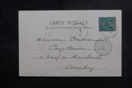 """FRANCE  - Cachet """" Loango à Marseille L.M.N°2 """" Sur Carte Postale En 1904 Pour Conakry - L 47986 - Poststempel (Briefe)"""
