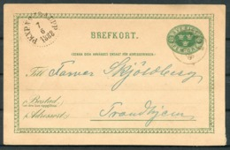 1888 Sweden Brefkort Stationery Postcard PKXP Railway - Sweden