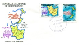FDC Nouvelle-Calédonie 1979 - Ile D'Ouvéa Et De Maré - R 5706 - FDC