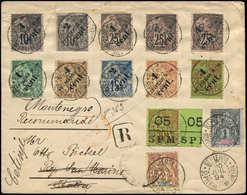 Let SAINT PIERRE ET MIQUELON 8, 35/44, 59 Et 60 Obl. ST PIERRE 20/7/94 Sur Env. Rec. Pour St Marin Réexp. Au Montenegro, - Used Stamps