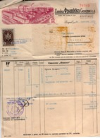 1939 YUGOSLAVIA,CROATIA,ZAGREB,HINKA FRANCKA SINOVI,CYRILLIC PRINT,COFFEE FACTORY,INVOICE ON LETTERHEAD,1 FISKAL STAMP - Invoices & Commercial Documents