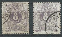 2X Timbres Nr 29 Lion Couché Avec Chiffre 8 Centimes Oblitérés - 1869-1888 Lying Lion