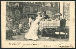 1902 Sweden Romantic Couple Postcard Stockholm - Sweden