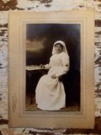 Postkaart Foto Verpleegster 1914-1918/ Postcard Photo Nurse 1914-1918 - Guerre 1914-18