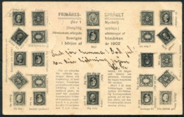1902 Sweden Stamps Frimarken Postcard Jonkoping - Sweden