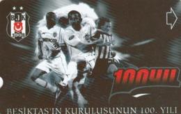 Turkey, N-319, 100th Annv.of Besiktas FC, Football, 2 Scans. - Turquie