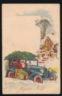 KERSTMAN MET AUTO EN PAKJES GESCHENKEN - Santa Claus