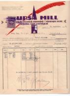 1927 YUGOSLAVIA, CROATIA, ZAGREB, MURSA MILL, OFFICE SUPPLIES, INVOICE ON LETTERHEAD, 1 FISKAL STAMP - Invoices & Commercial Documents