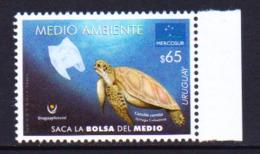 Uruguay 2019 Mercosur Marine Fauna Turtle 1v MNH - Schildpadden