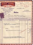 1932 YUGOSLAVIA, SLOVENIA, LJUBLJANA, MEDIC-ZANKL, INVOICE ON LETTERHEAD, 1 FISKAL STAMP - Facturas & Documentos Mercantiles