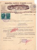 1937 YUGOSLAVIA,SLOVENIA,STRAŽIŠČE PRI KRANJU,INVOICE ON LETTERHEAD,HORSE HAIR PRODUCTION, 2 FISKAL STAMPS - Invoices & Commercial Documents